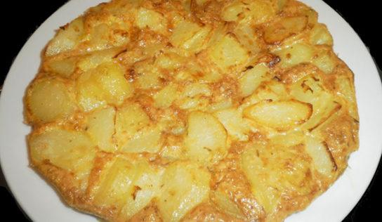 Frittata di patate senza uova.