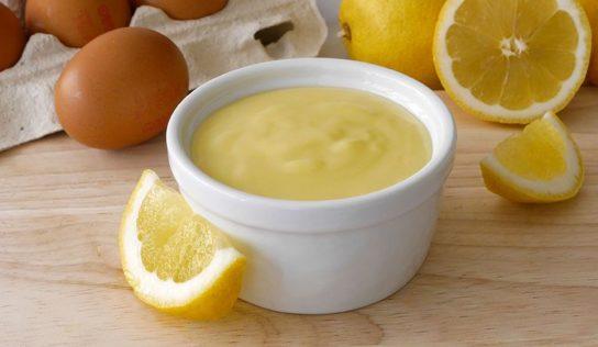 Crema pasticciera al limone.