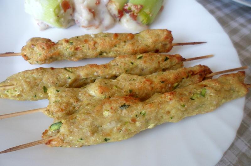 ricetta arrosticini pollo zucchine