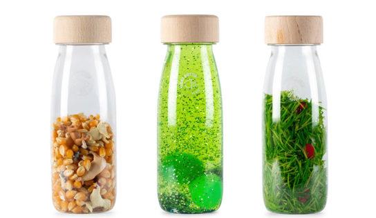 Bottigliette sensoriali fatte in casa, gioco adatto per i bambini.