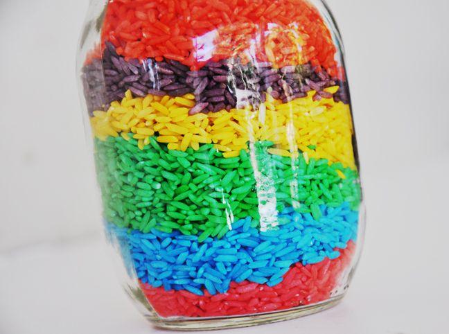 come colorare il riso