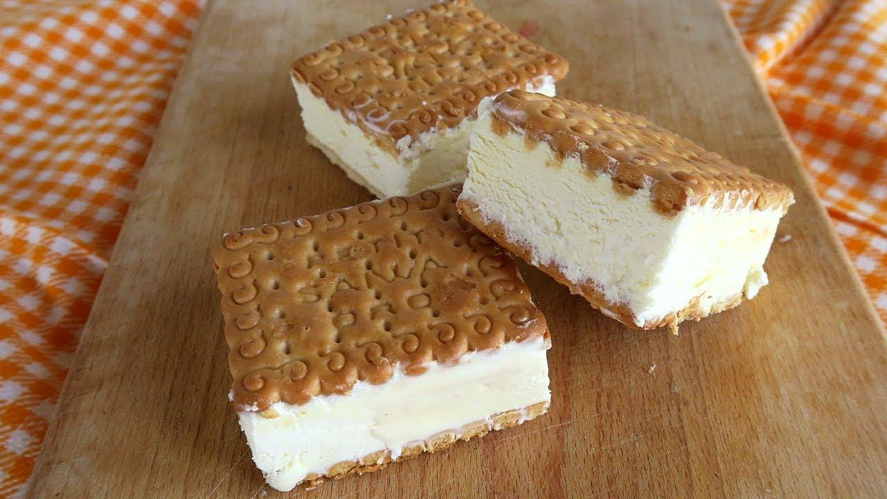 gelato biscotto allo yogurt