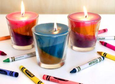 Come fare candele profumate con i pastelli a cera in casa