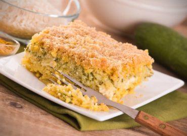 Torta di riso: zucchine, prosciutto e formaggio