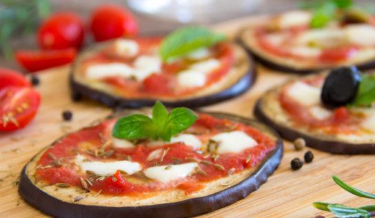 Melanzane preparate come una pizza