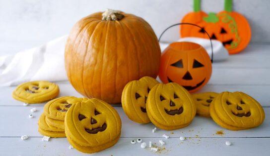Halloween: Biscotti di zucca con nutella