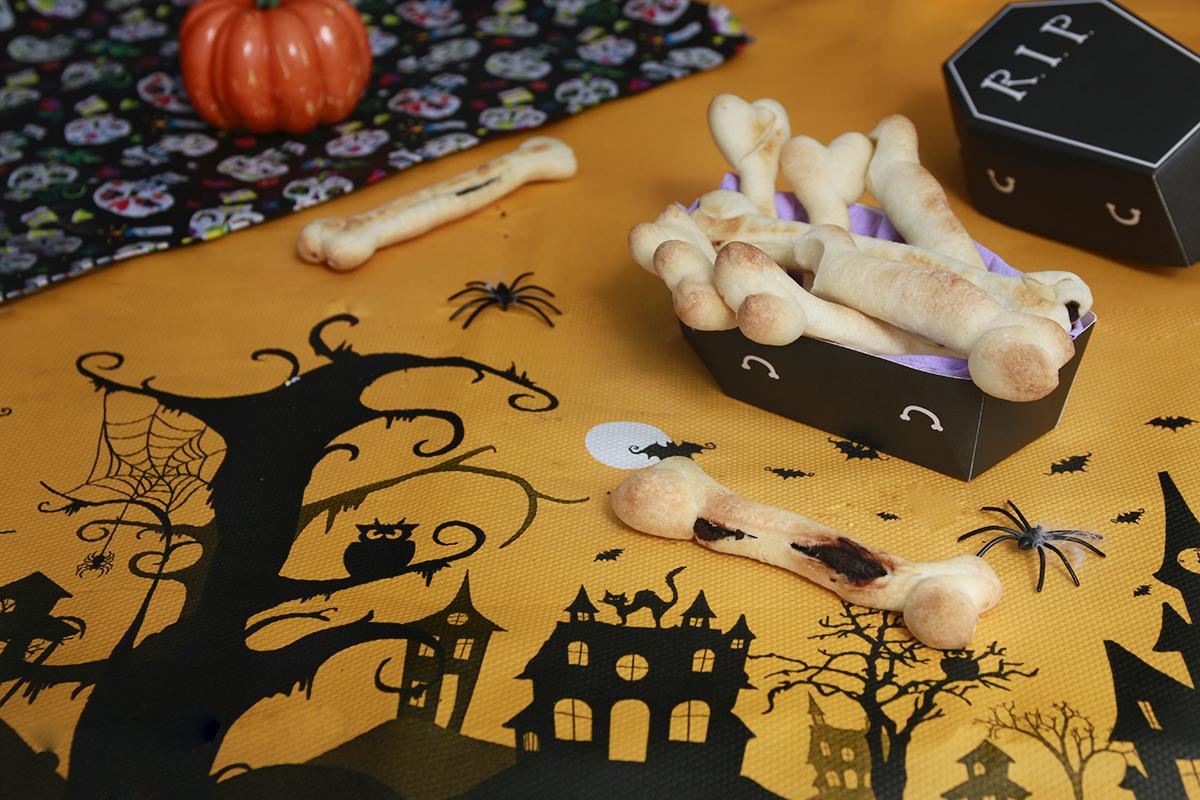 halloween ossa di pane e cioccolato