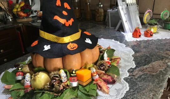 Festeggiare l'autunno insieme ai bambini. (Decorazione casa centro tavola)