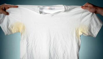 Come togliere facilmente le macchie gialle di sudore dal cotone