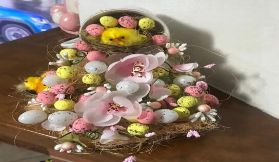 La tazza sospesa, decorazione home made per la Pasqua