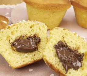 Soffici Muffin alla nutella, gustoso e facili da preparare