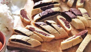 Biscotti rustici bicolore