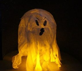 Halloween: come realizzare una lanterna fantasma fai da te / ghost lantern diy halloween