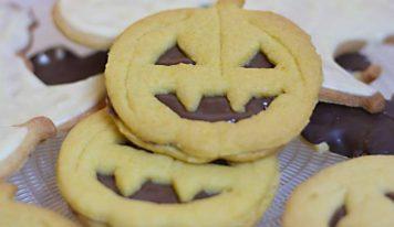 Biscotti alla nutella per Halloween.